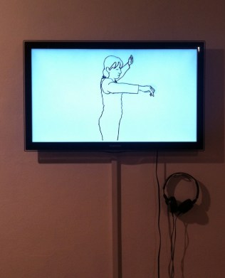 Hetain Patel, 'Maestro', 2014, video 5:40, in 'At Home' at Pumphouse Gallery, London. Photo credit Kelise Franclemont.
