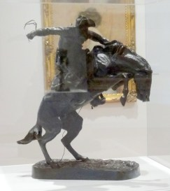 Frederic Remington, 'Bronco Buster', 1920, bronze, cast #241, at Everson Museum of Art, Syracuse, NY. Photo credit Kelise Franclemont.