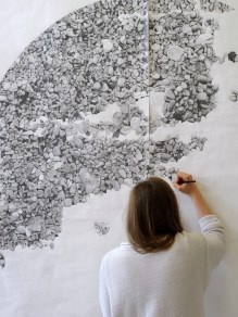 Georgia Jennings Moors drawing in the BA Fine Art Summer Show 2015 at Chelsea College of Arts, London. Photo credit Kelise Franclemont.