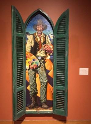 Jim Vogel, 'Maynard Dixon', 2011, oil on canvas on board, painted wood, at Booth Western Art Museum, Cartersville, GA. Photo credit Kelise Franclemont.