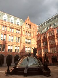 The inner courtyard at 138-142 Holborn St, London. Photo credit Kelise Franclemont.