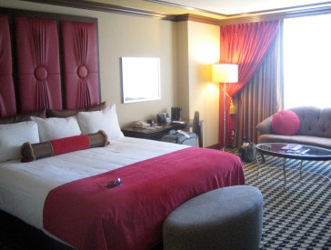 Cute little hotel rooms in Paris Las Vegas…