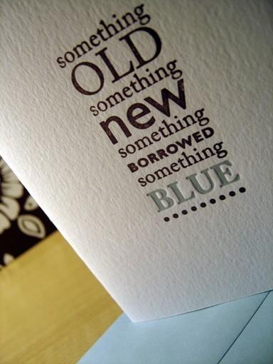 """""""Something Old, Something New, Something Borrowed ..."""