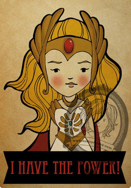 "Kelley Frisby illustration SheRa fan art ""the Princess of Power"""