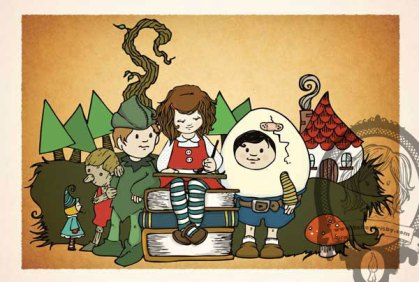 Kelley Frisby Illustration Fairy Tale Aventure Self Promotion Postcard