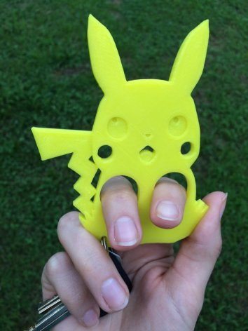 Pokemon Pikachu Self Defense Keychain Etsy
