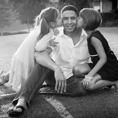 Dad with Daughters | Kelley K Photography