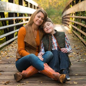 Mother-Son on Bridge | Kelley K Photography