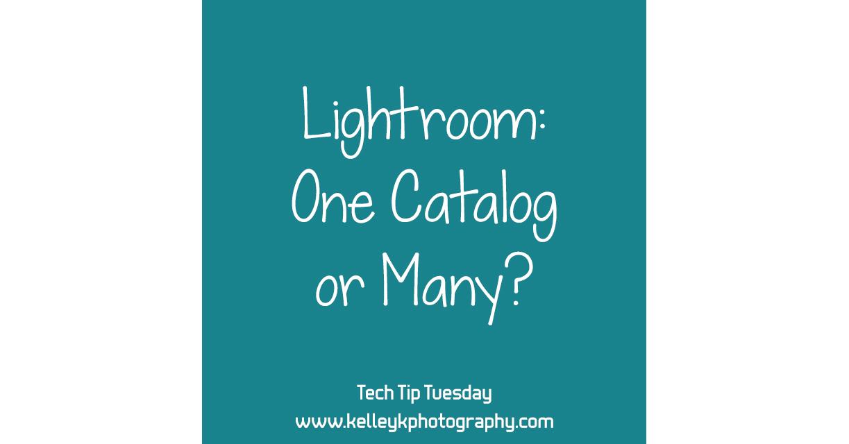 Tech Tip: One Lightroom Catalog or Many?