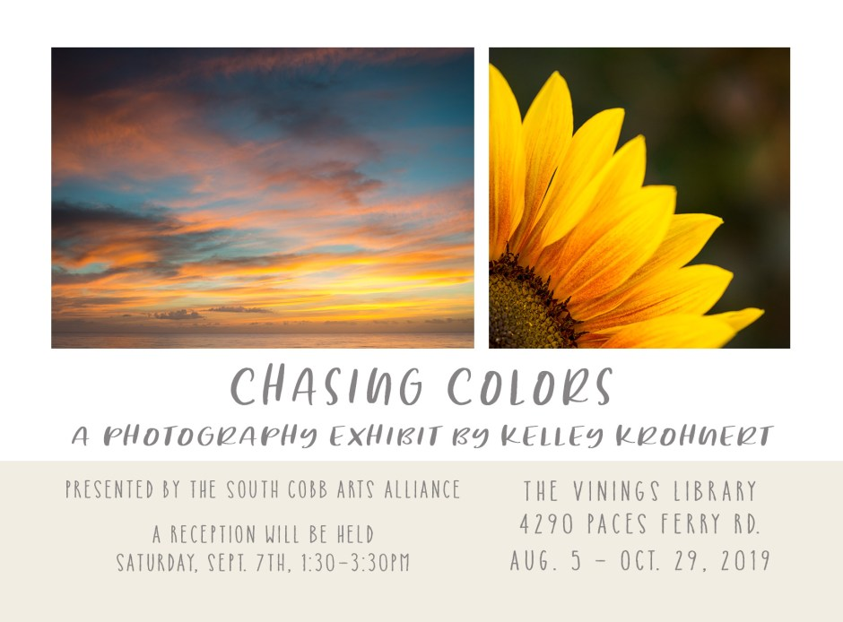 Chasing Colors photography exhibit in Vinings