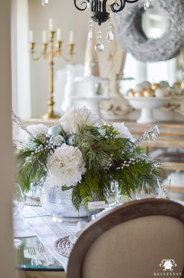 Simple Intimate Ice Blue Christmas Table Kelley Nan