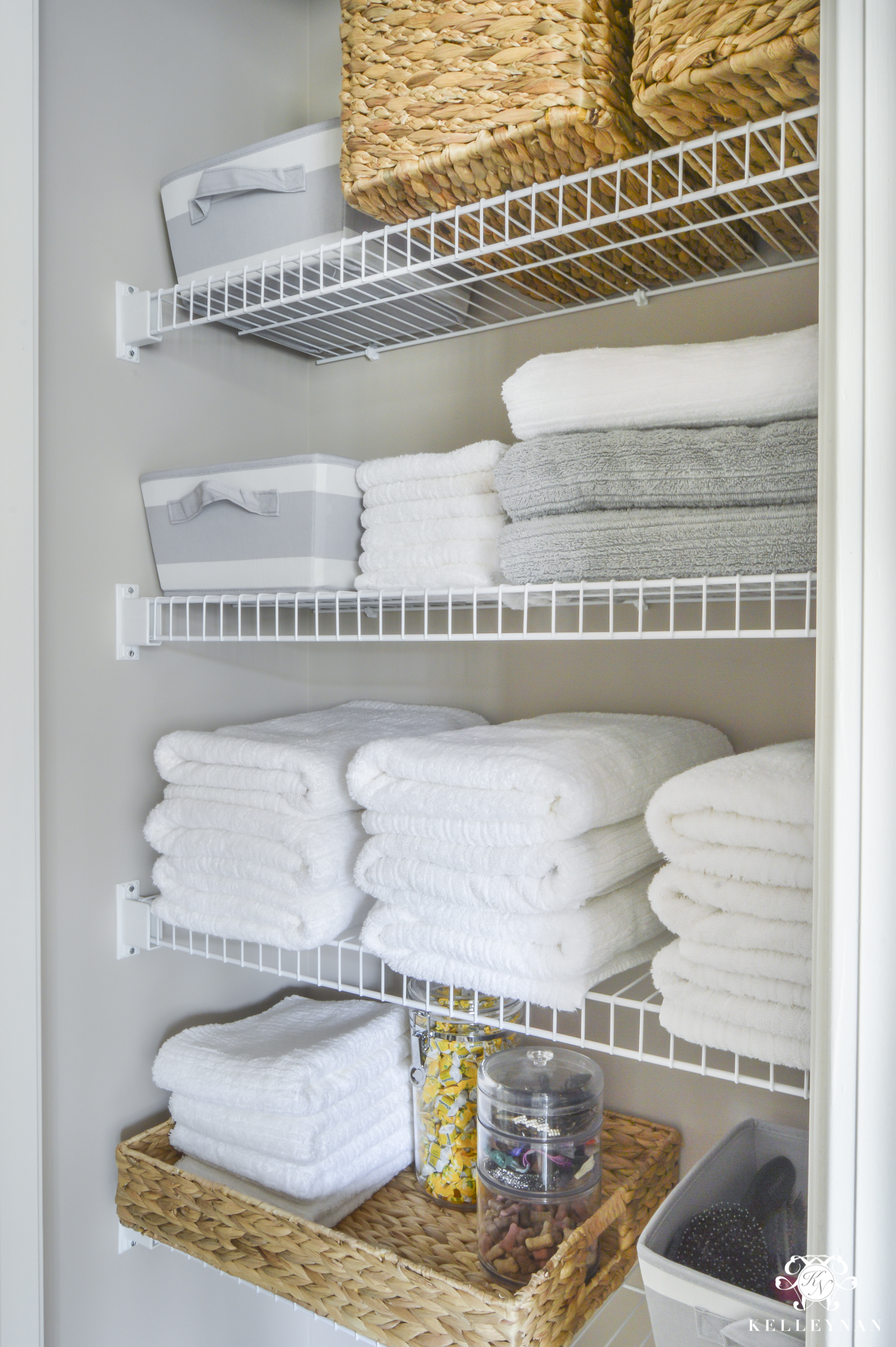 Organized Bathroom Linen Closet Anyone Can Have Kelley Nan