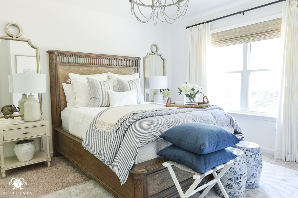 One Room Challenge- Classic Blue And White Guest Bedroom