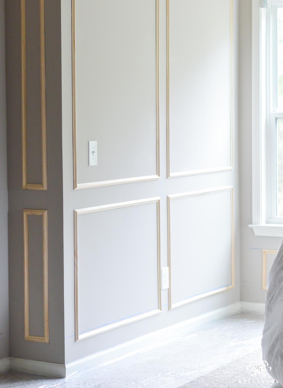 One Room Challenge Week 2 Paneled Bedroom Walls And The