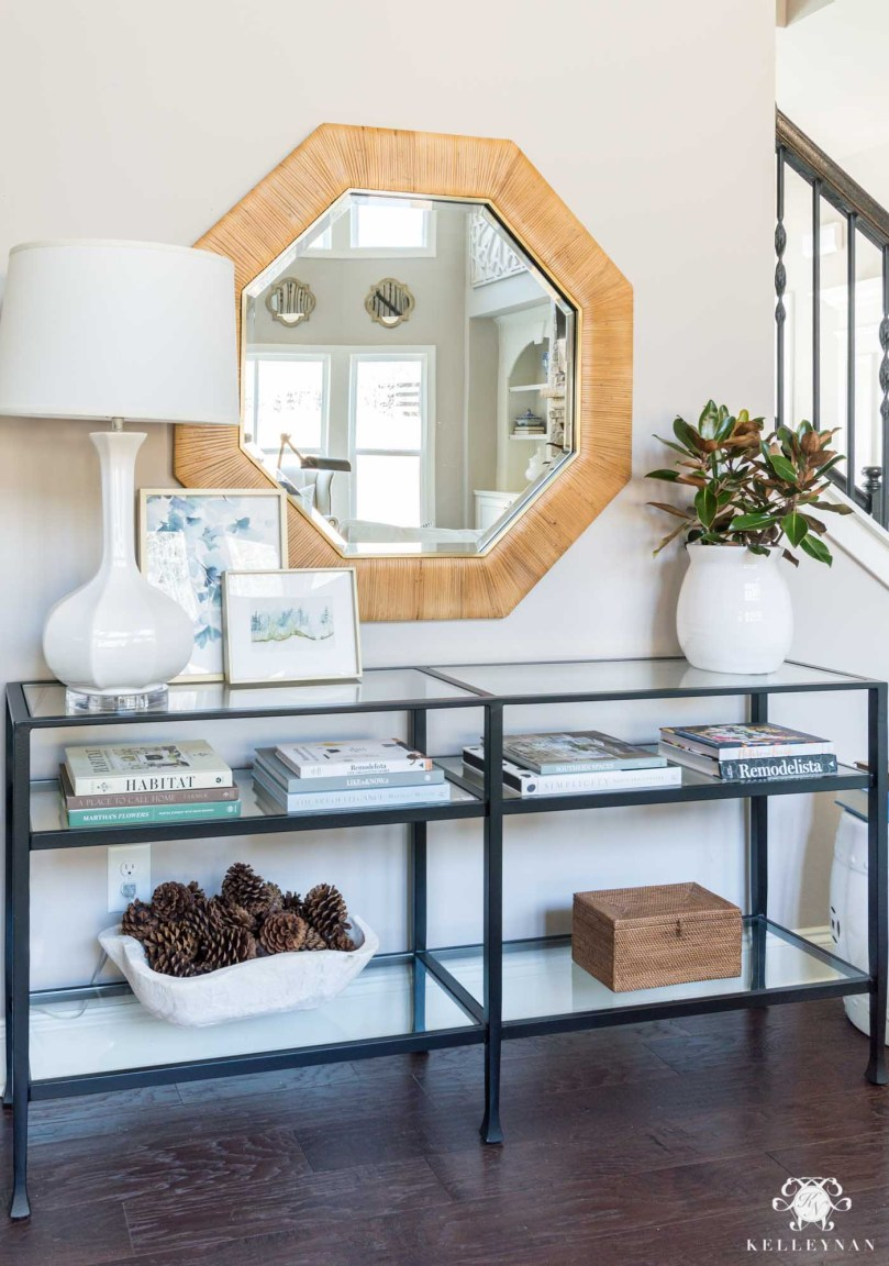 How to style a living room console table