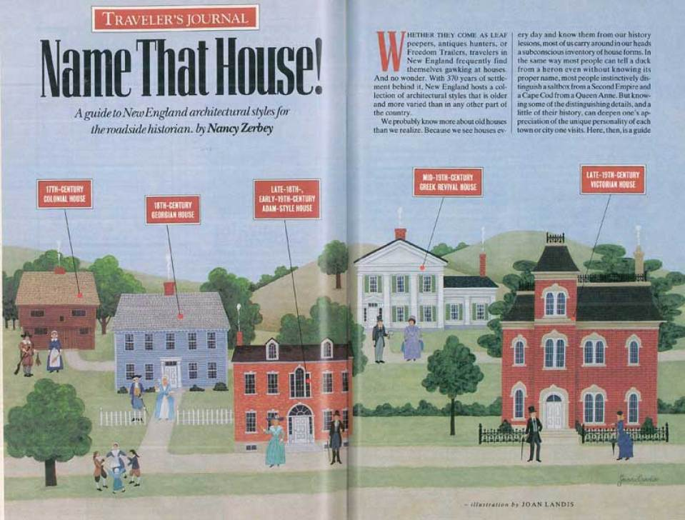 """Name That House!"" was originally published in Yankee Magazine in June, 1997."