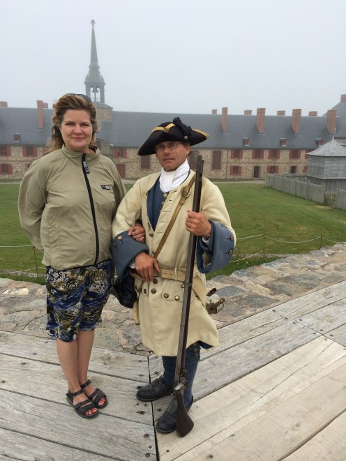 """Many """"animators"""" live the parts of soldiers and residences at Louisbourg."""