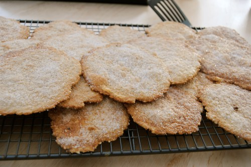 spelt olive oil biscuits on rack