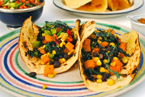 japanese butternut squash tacos