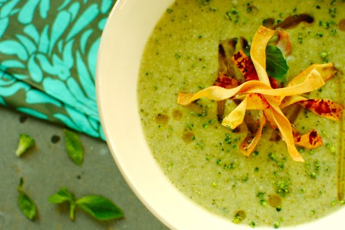 broccoll basil soup