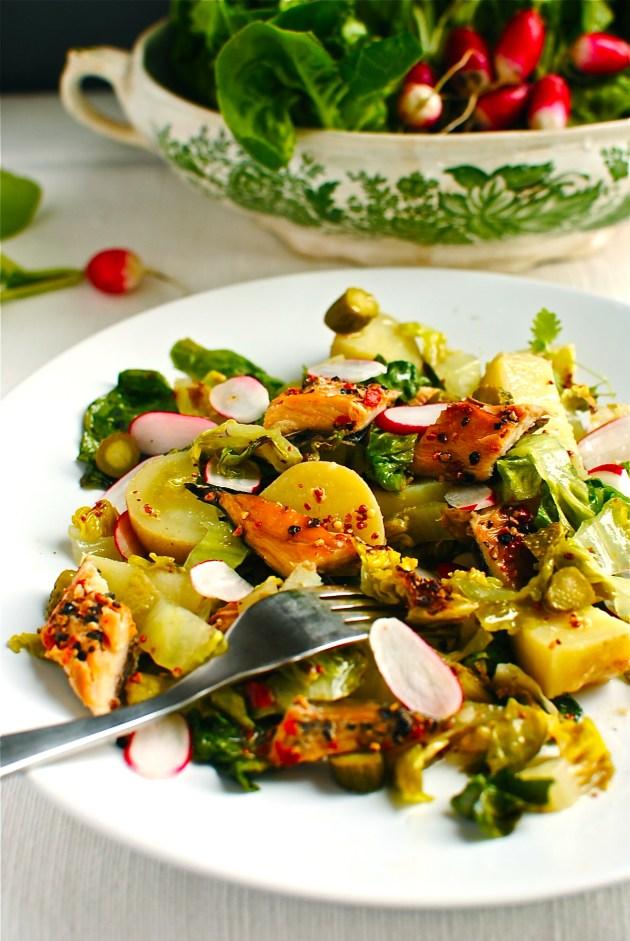 grilled lettuce salad