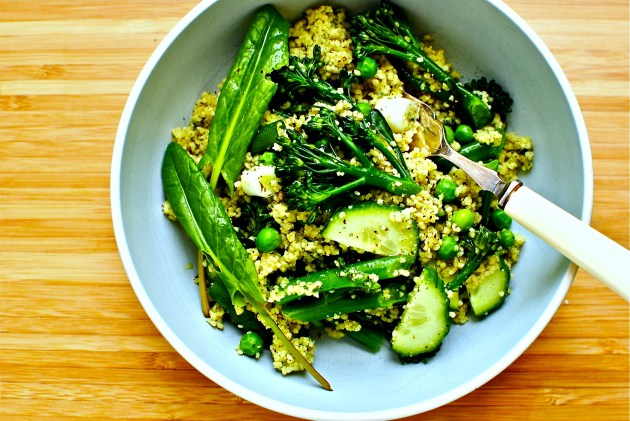 greens and grain salad
