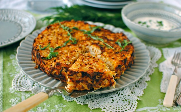 celeriac-and-carrot-rosti-cake
