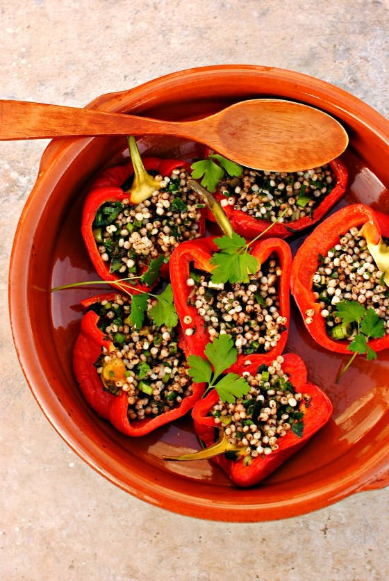 Mediterranean stuffed peppers - vegan