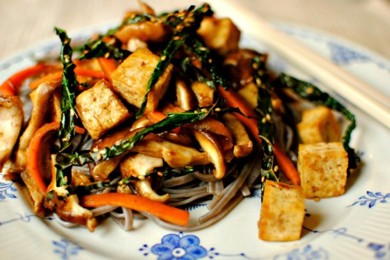 Tamarind and Shiitake Tofu with Sesame Seaweed