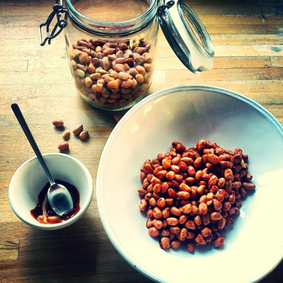 Sriracha and Miso Nuts