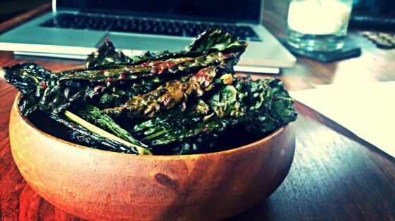 spicy kale crisps