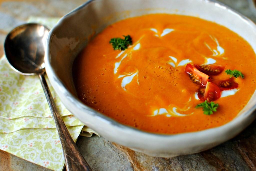 smoky silky corn soup by food to glow