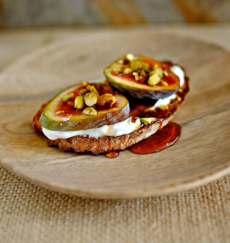 fig and labneh tartine by food to glow