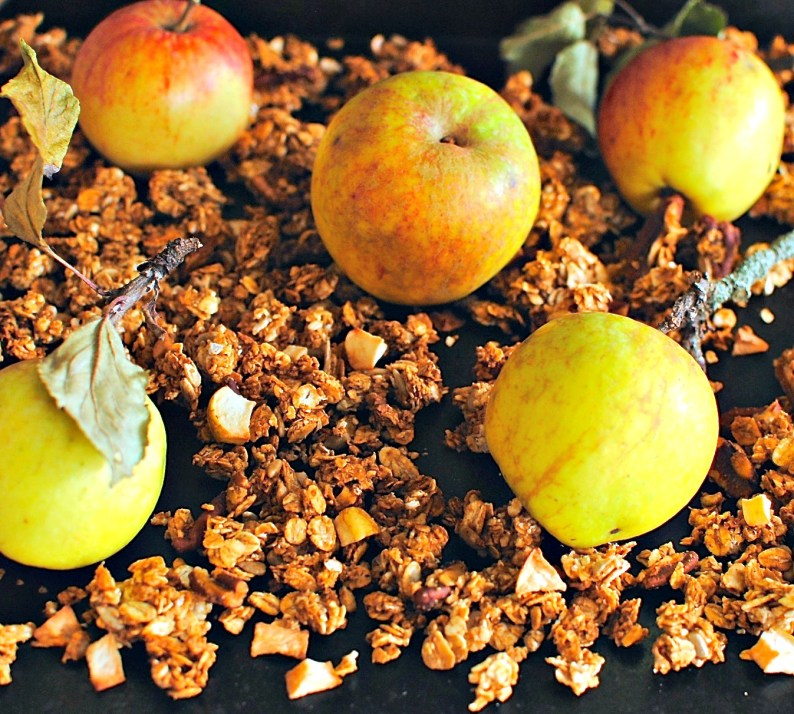 slow-baked apple pie granola by food to glow
