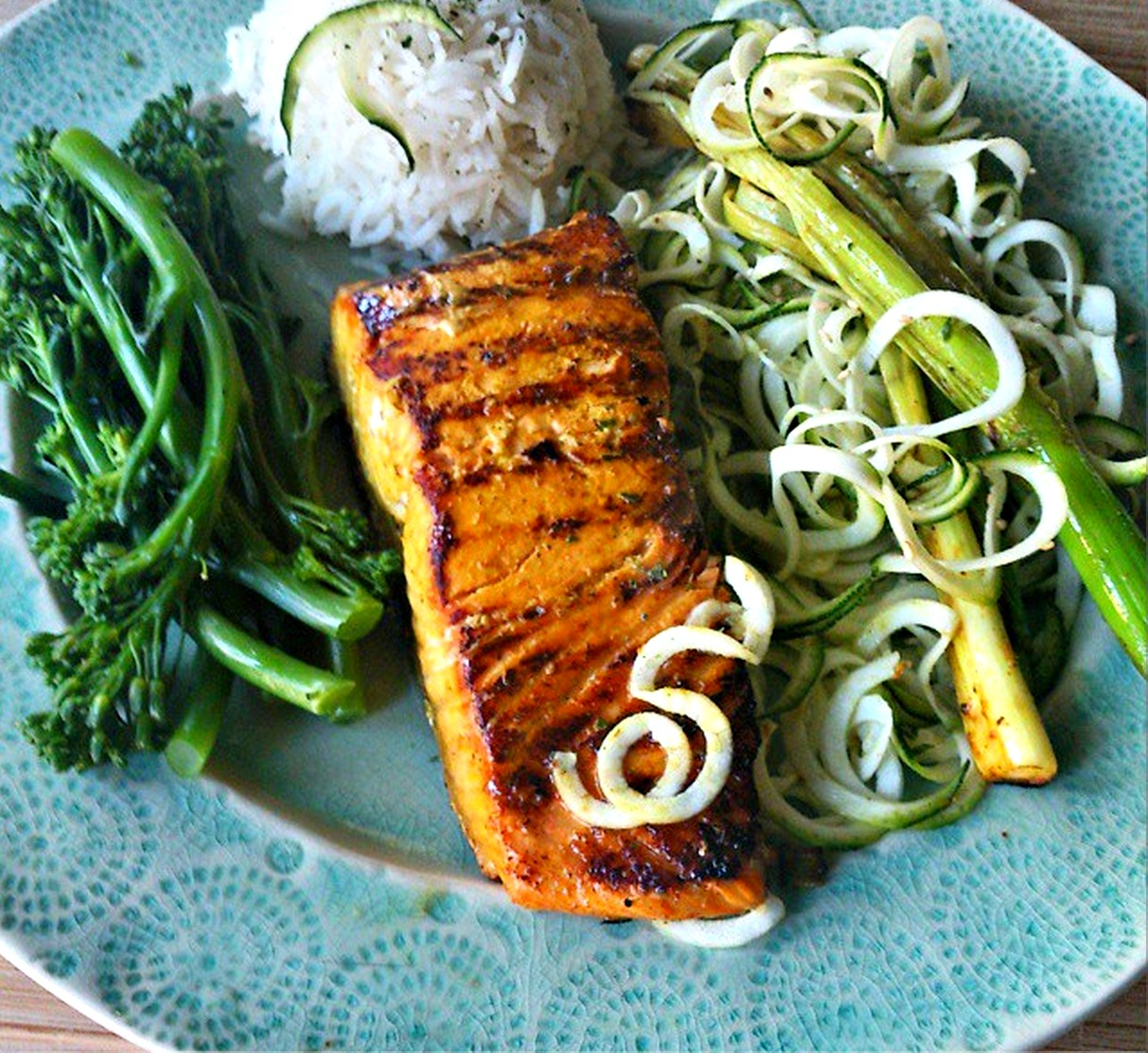 Lime and fresh turmeric salmon with baked lime leaf rice food to glow turmeric and lime salmon forumfinder Image collections