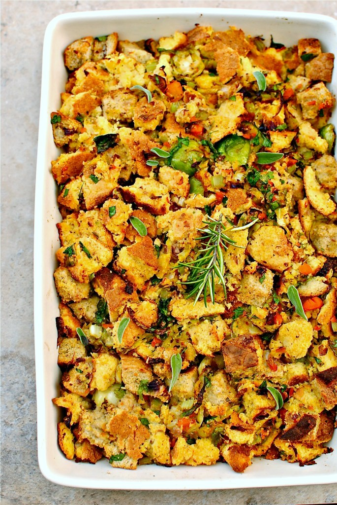 cornbread stuffing // food to glow