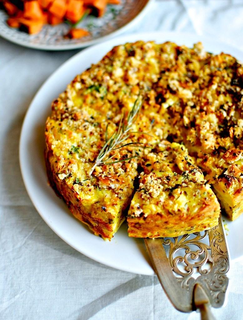 cauliflower cheese cake // food to glow