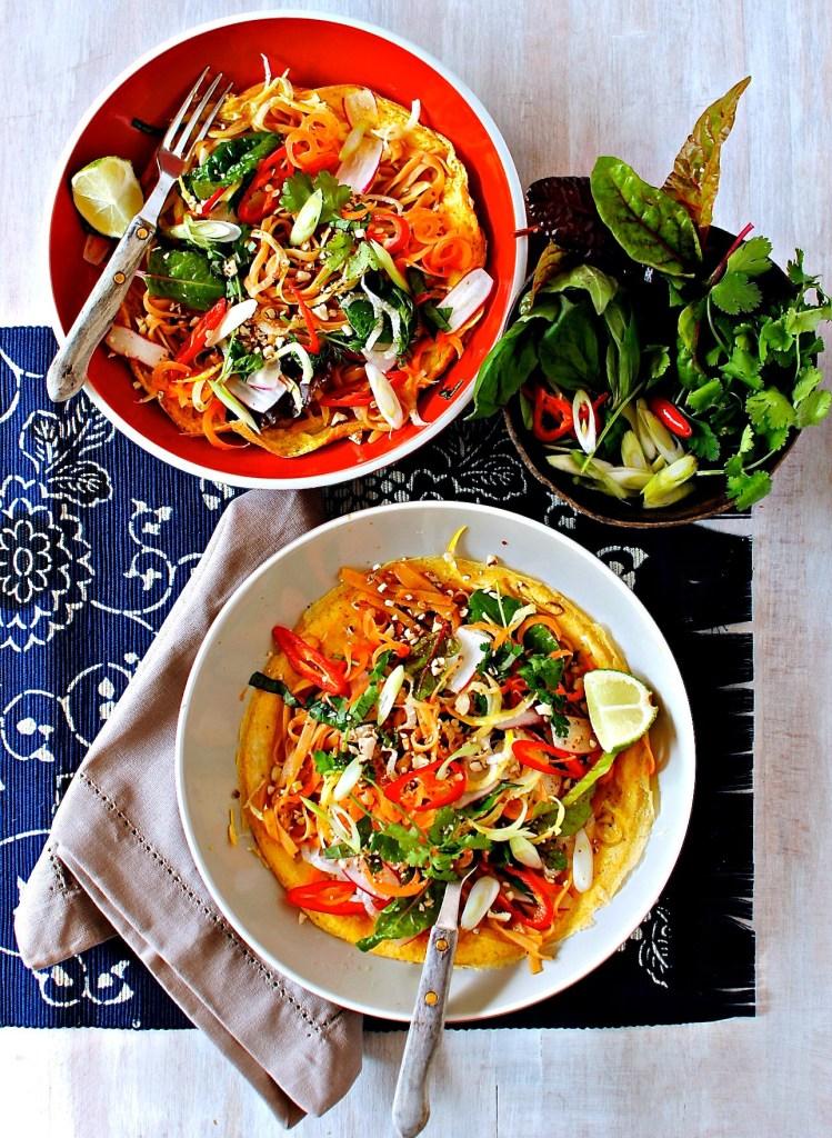 pad thai crepe // food to glow