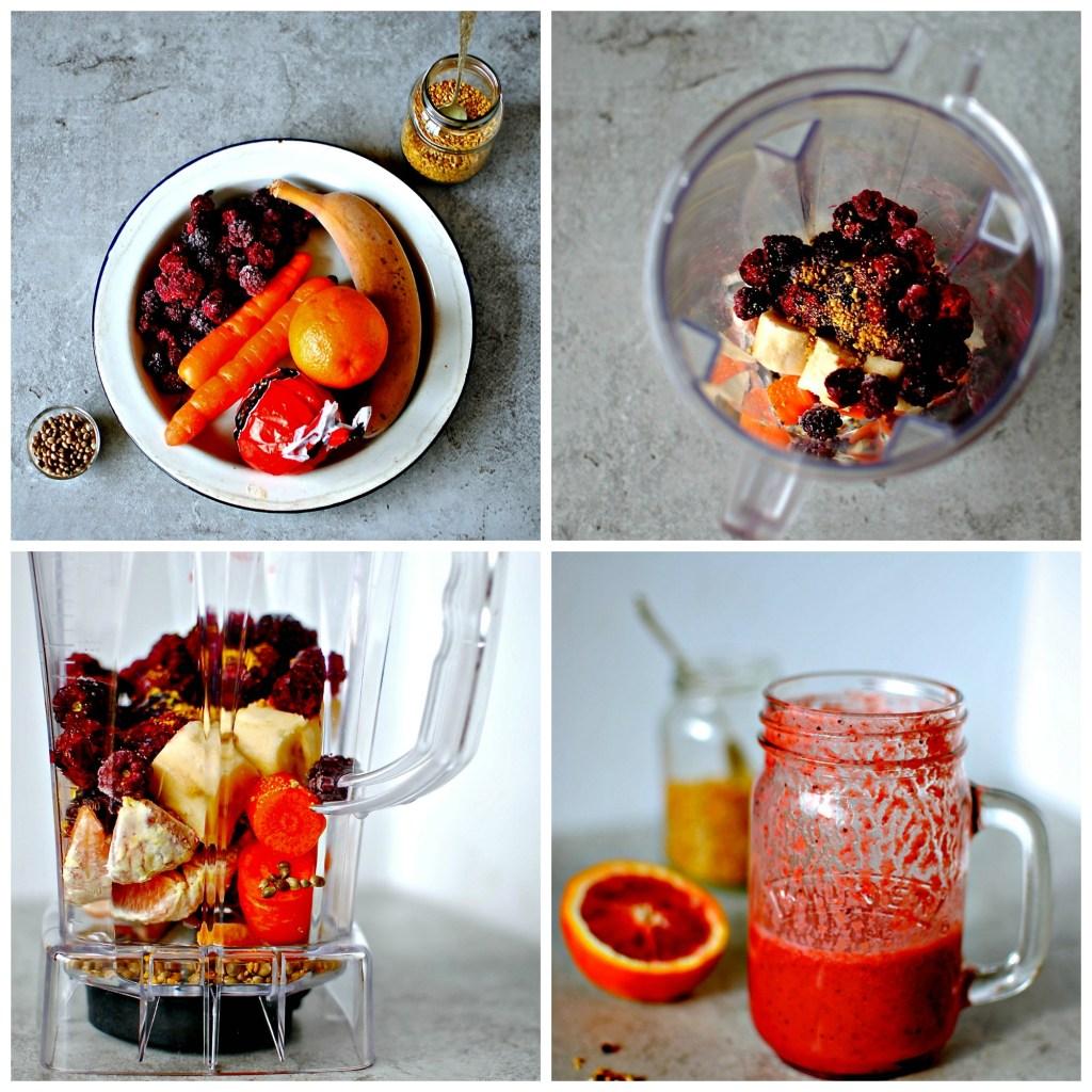 blood-orange-berry-smoothie // food to glow