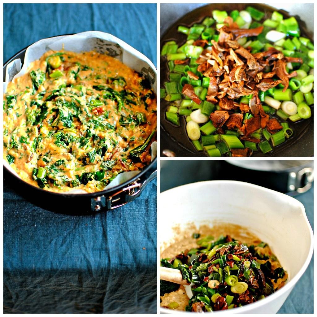 savory-spinach-wild-garlic-porcini-cake food to glow