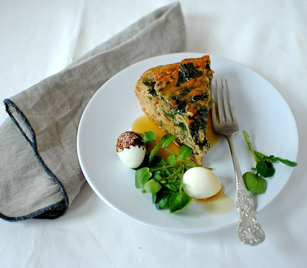 gravy and savoury vegetable cake by food to glow