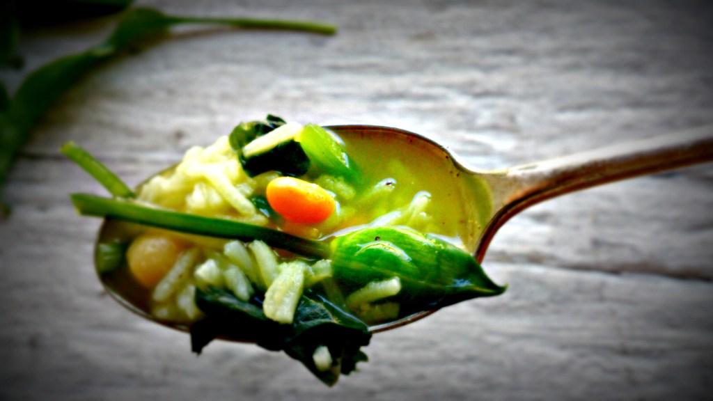 wild-garlic-soup-closeup-spoon by food to glow