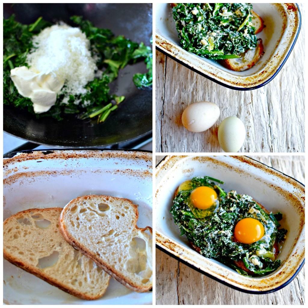 creamy-kaleand-wild-garlic-toast-bake by food to glow