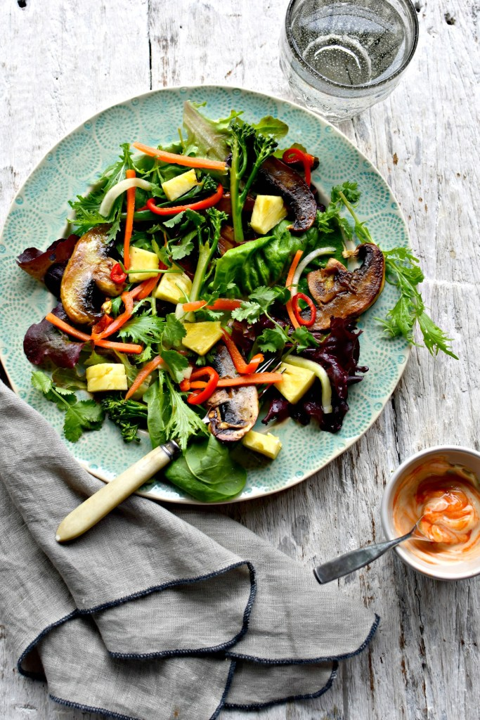 marinated mushroom banh mi salad // food to glow #salad #vietnamese #mushrooms #vegetarian