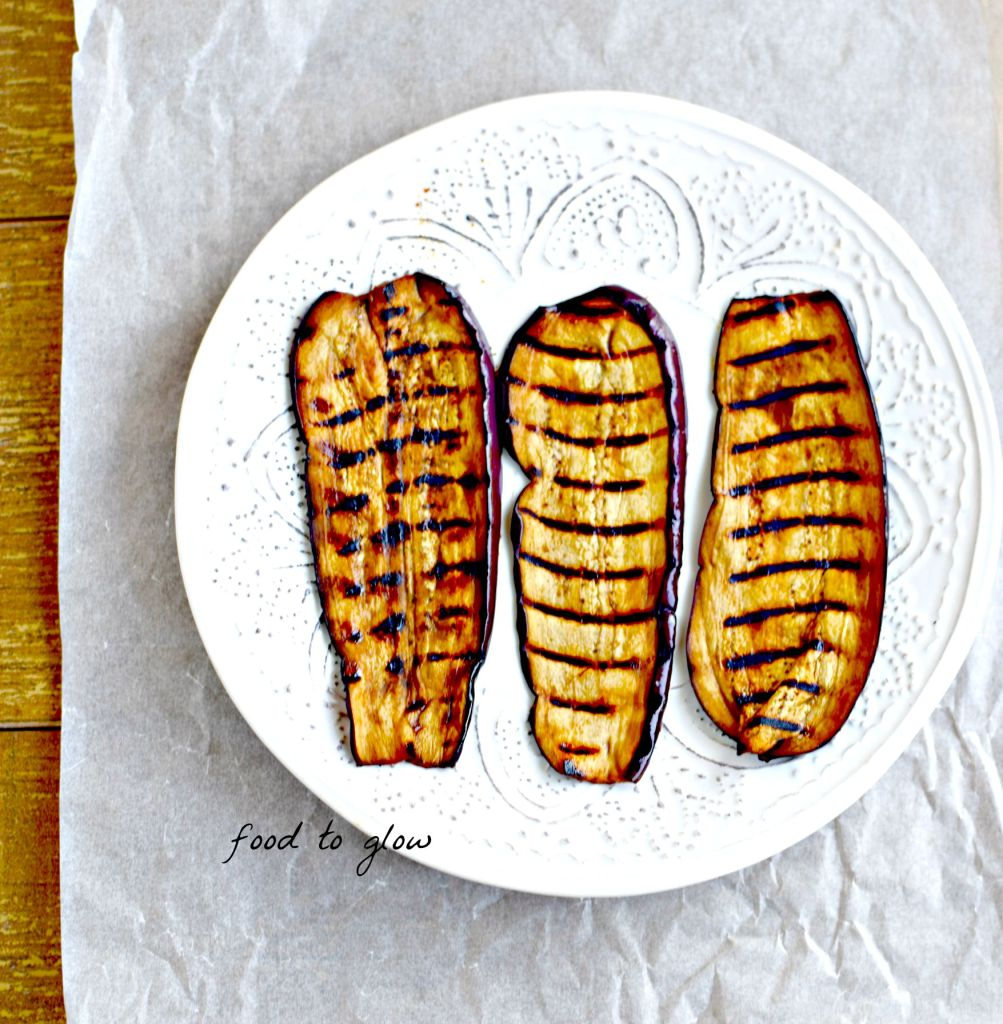 eggplant bacon // food to glow