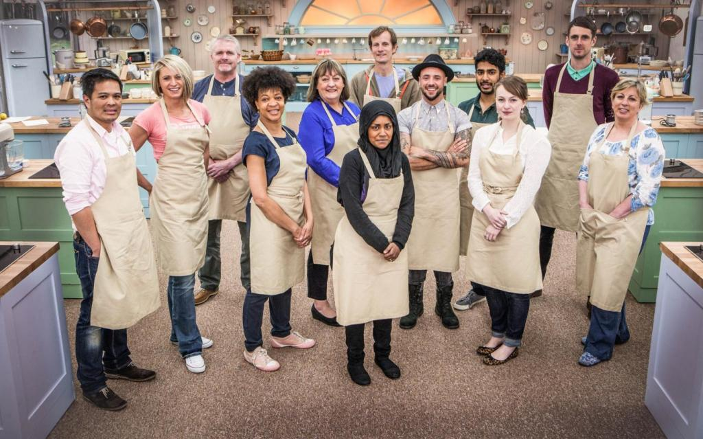 GBBO 2015 contestants. Winner Nadiya Hussein in the centre. Image: BBC