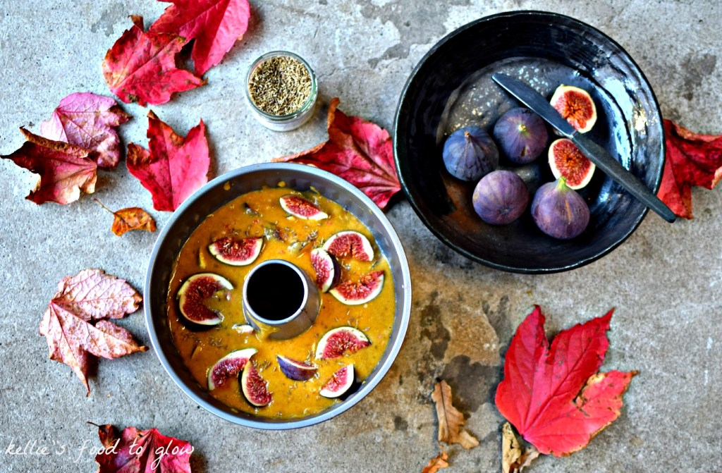 Dairy-free, all in one style polenta cake with autumnal figs, orange and anise seed. A perfect company or family cake that keeps beautifully. Easily gluten-free too.