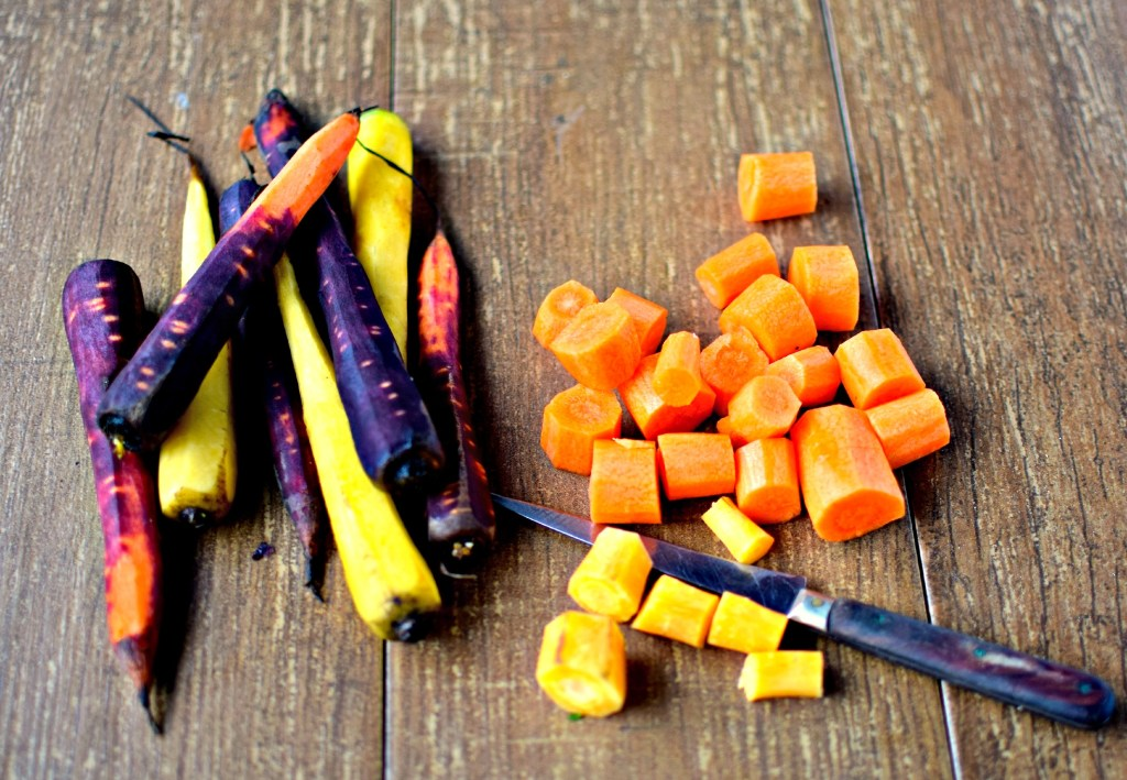 rainbow carrots for carrot tarte tatin