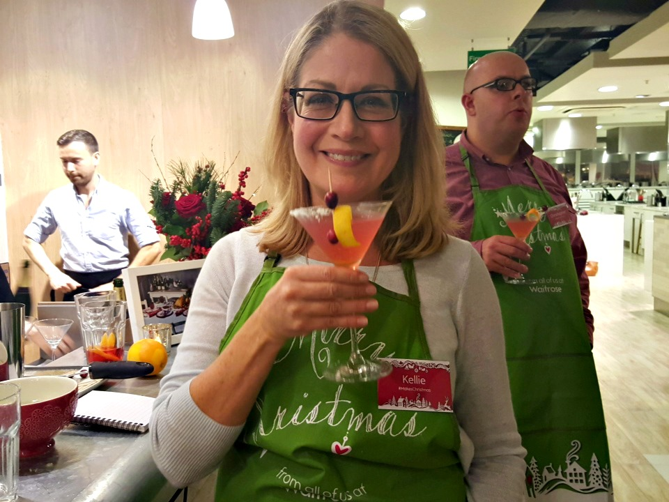 Glorious Christmas Champagne cocktail - Waitrose #MakesChristmas launch