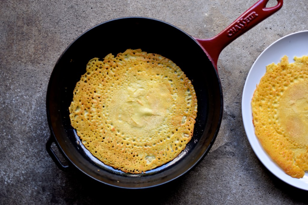 making farinata / socca / chickpea pancakes - such versatile little, naturally gluten-free pancakes